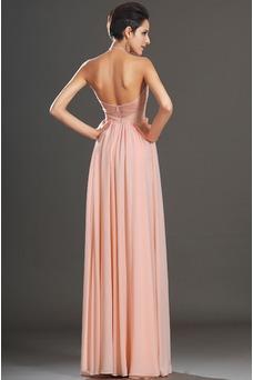 Vestido de noche elegante pequeñas Sin mangas Natural Corte-A Cremallera