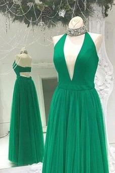 Vestido de fiesta Verano Escote en V Falta Espalda Descubierta Moderno