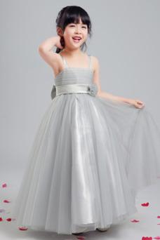 b7fd360df9d Vestido niña ceremonia Sin mangas Corte-A Arco Acentuado Elegante Hasta la  Tibia ...