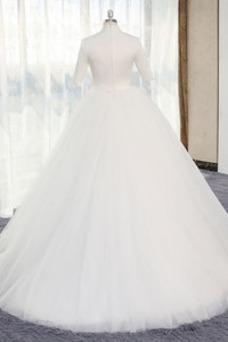 Vestido de novia Formal Triángulo Invertido Manga de longitud 3/4 Camiseta