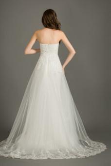 Vestido de novia Encaje Elegante Corte-A Pera Cola Corte Cremallera