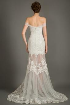 Vestido de novia Escote Corazón Sin mangas Cola Capilla Cremallera Natural