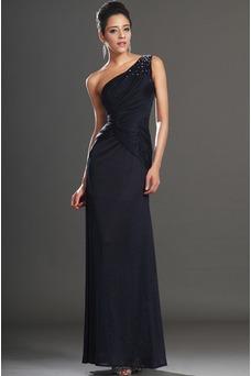 Vestido de noche Largo Natural Drapeado Lateal Blusa plisada Espalda medio descubierto