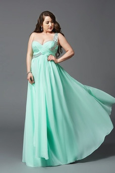 Vestido de noche Elegante Hasta el suelo Drapeado Blusa plisada Natural