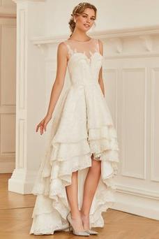 Vestido de novia Fuera de casa Barco Sin mangas Moderno Reloj de Arena