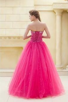 Vestido de quinceañeras Corpiño Acentuado con Perla Corte-A Formal Hasta el suelo