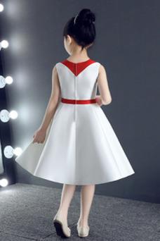Vestido niña ceremonia Corte-A Natural Botón Otoño Hasta la Rodilla Cremallera