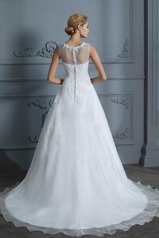 Vestido de novia Joya Encaje Falta Sala Corte-A Natural