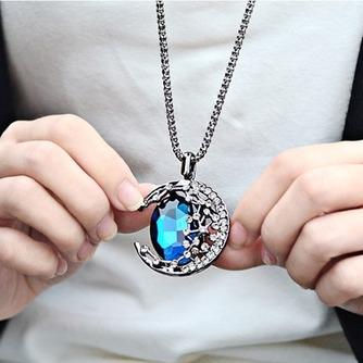 Collar mujer nuevo producto aleación joyería Retro collar y colgante de cristal - Página 3