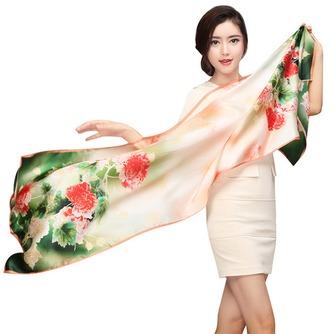 Bufanda de seda cálida bufanda de mulberry otoño invierno MS seda bufandas - Página 1