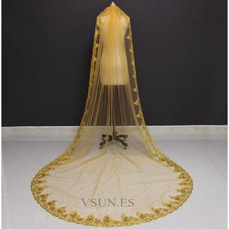 3M lentejuelas doradas velo de novia velo de lentejuelas velo velo de novia catedral - Página 1