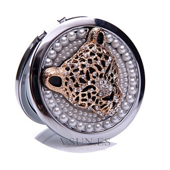 Diamantes con incrustaciones de círculo Metal plegable pequeño adorno de cumpleaños boda - Página 1