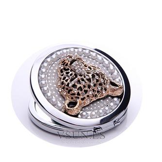 Diamantes con incrustaciones de círculo Metal plegable pequeño adorno de cumpleaños boda - Página 2