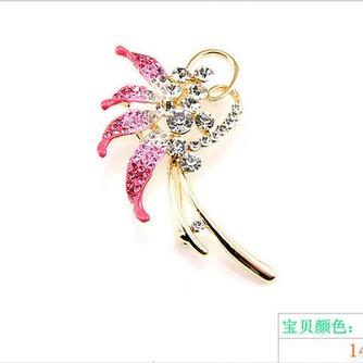 Con incrustaciones de diamante hoja Top grade broche de flores de cristal de las mujeres - Página 2