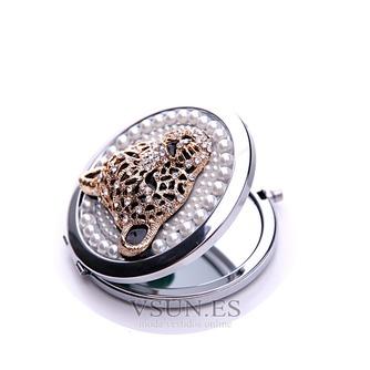 Diamantes con incrustaciones de círculo Metal plegable pequeño adorno de cumpleaños boda - Página 3