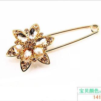 Diamante de ramillete mujeres incrustaciones de aleación de cristal de moda broche - Página 2