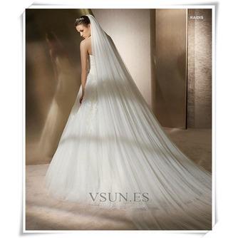 La novia vestido de novia velo hilado suave 3 metros de largo y dos capas velo suave - Página 2