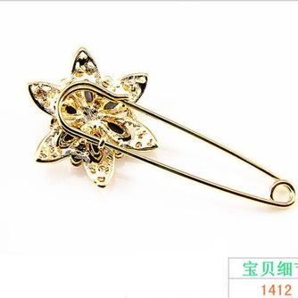 Diamante de ramillete mujeres incrustaciones de aleación de cristal de moda broche - Página 3