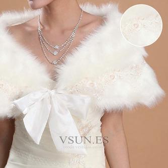 Chal de boda Encaje Elegante Botón Otoño Iglesia Sin mangas - Página 2