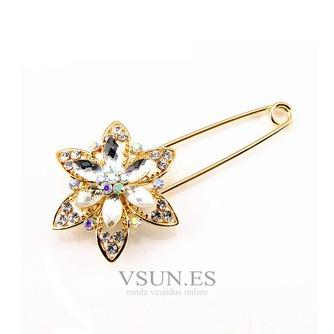 Diamante de ramillete mujeres incrustaciones de aleación de cristal de moda broche - Página 1