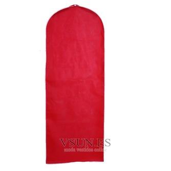 Boda vestido de guardapolvo rojo sólido a prueba de polvo cubierta guardapolvo - Página 1
