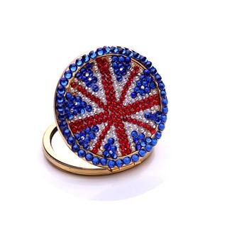 Bandera nacional por mayor portátil palabra bi-adhesiva con incrustaciones de diamante M adorno pequeño - Página 1