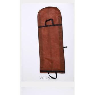 Brown vestido portátil de doble uso a prueba de polvo bolsa plegable cubierta de polvo del vestido de boda grande con palabras - Página 2