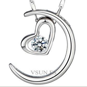 Collar y colgante en forma de corazón chapado decoración caliente de la venta de plata - Página 1