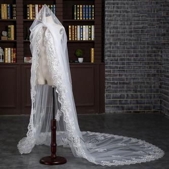 Velo alargado y ensanchado 3 metros de largo velo de cola accesorios de boda nupcial al por mayor - Página 4