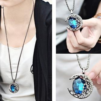 Collar mujer nuevo producto aleación joyería Retro collar y colgante de cristal - Página 4