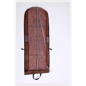 Brown vestido portátil de doble uso a prueba de polvo bolsa plegable cubierta de polvo del vestido de boda grande con palabras - Página 3