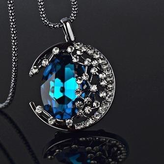 Collar mujer nuevo producto aleación joyería Retro collar y colgante de cristal - Página 2
