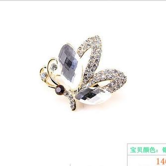 Broche de cristal brillante alta calidad refinamiento por mayor con incrustaciones de diamantes broche - Página 2