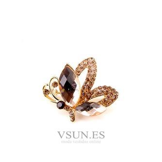 Broche de cristal brillante alta calidad refinamiento por mayor con incrustaciones de diamantes broche - Página 1