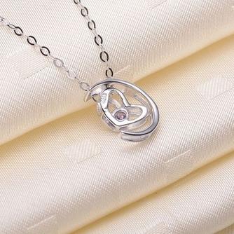 Collar y colgante en forma de corazón chapado decoración caliente de la venta de plata - Página 3