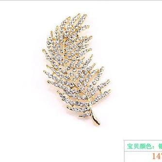 hoja del árbol todo partido aleación broche de joyería por mayor - Página 1