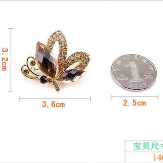 Broche de cristal brillante alta calidad refinamiento por mayor con incrustaciones de diamantes broche - Página 3
