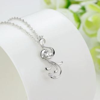 Con incrustaciones de diamante mujer moda Peacock collar y colgante de plata - Página 3