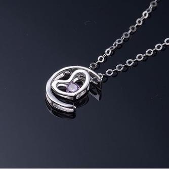 Collar y colgante en forma de corazón chapado decoración caliente de la venta de plata - Página 4