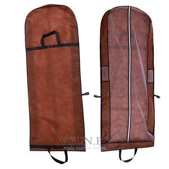 Brown vestido portátil de doble uso a prueba de polvo bolsa plegable cubierta de polvo del vestido de boda grande con palabras - Página 1