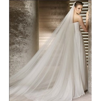 La novia vestido de novia velo hilado suave 3 metros de largo y dos capas velo suave - Página 1