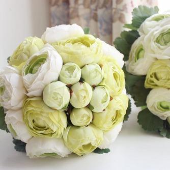 Las hojas son verde con flores flores de cartera de Dama de honor de la boda - Página 1