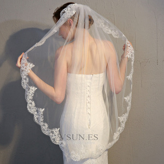 Velo de novia velo de encaje accesorios de boda con peine - Página 2