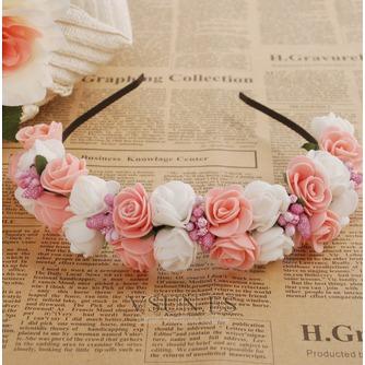 Guirnaldas de flores de cinta pelo pelo de vestido de boda de las chicas de viaje niños - Página 7
