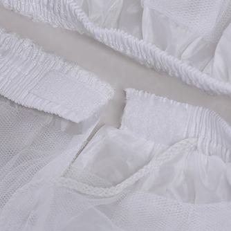 Sólida red corto frameless Lange hilado doble moda enagua de la boda - Página 2