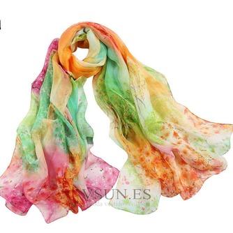 Impresos bufandas gasa cortina chal protector solar - Página 3