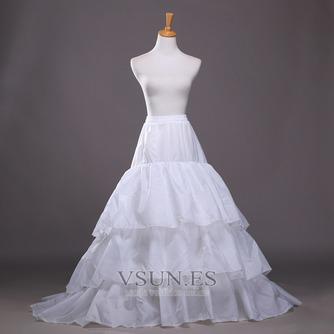 Poliéster tafetán volante vestido lleno cadena larga moda enagua de la boda - Página 1