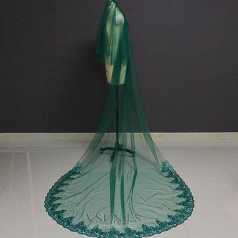 Velo de novia verde velo de novia musulmán velo de cara cubierta 3M - Página 1