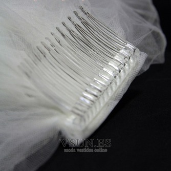 Velo de novia Invierno Apliques Formal Encaje - Página 2