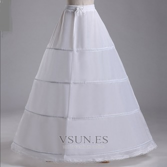 Paquetes de poliéster tafetán dos de cintura cuatro ruedas estándar de boda enagua - Página 2